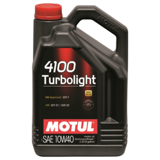 Масло MOTUL 4100 TURBOLIGHT 10W40 5L