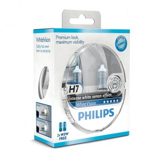 Крушка Philips H7 White vision Ultra Xenon effect